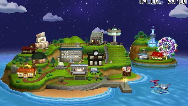 """Screenshot von """"Tomodachi Life"""" mit Ansicht der Insel"""