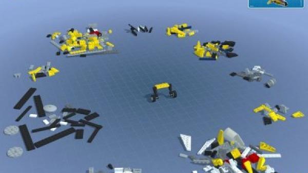 Screenshot: Lego liegt verstreut in einem Raum.