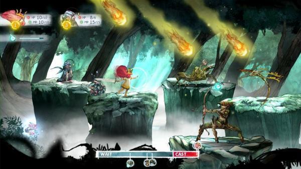 Kampfszene - Aurora mit Finn gegen drei spinnenartigen Wesen