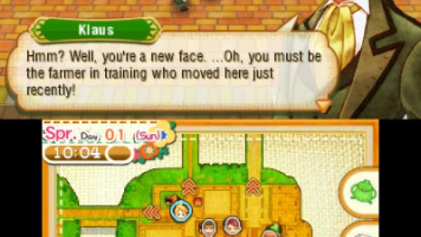 Screenshot: Der Farmer trifft Klaus.