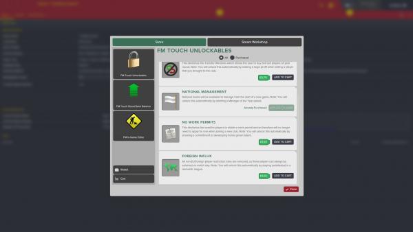 Screenshot: Der In-Game Shop als Menü mit diversen Auswahlmöglichkeiten.