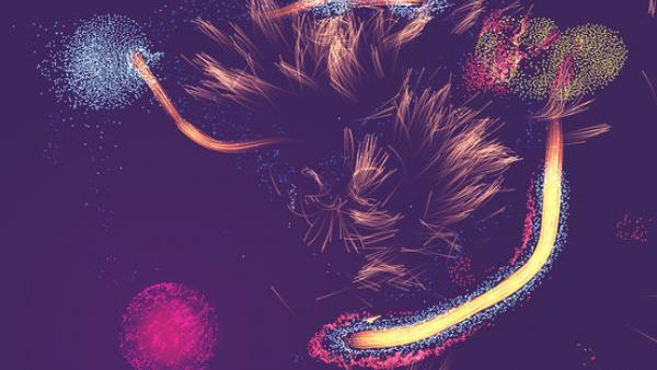 Partikelfeuerwerk