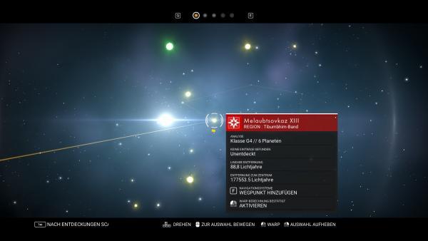 Screenshot: Übersichtskarte der Galaxie.
