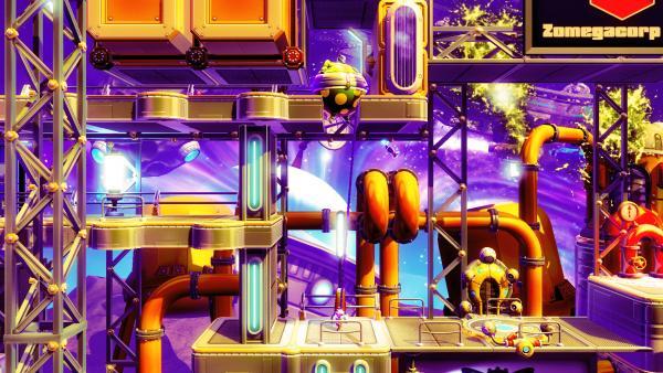 Screenshot: Der dicke Astronaut passt nicht durch die Lücke.