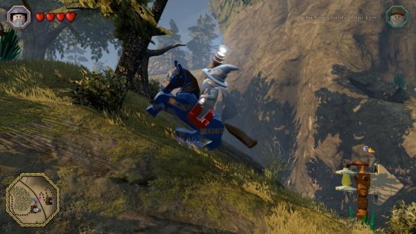 Gandalf reitet einen Hügel hinauf