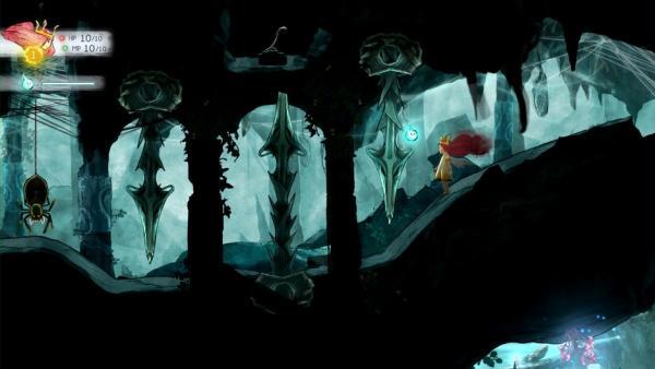 Aurora in einem Tunnel vor einer Speerfalle