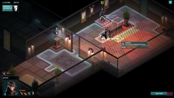 Screenshot: Raum mit strategischen Punkten (heller)
