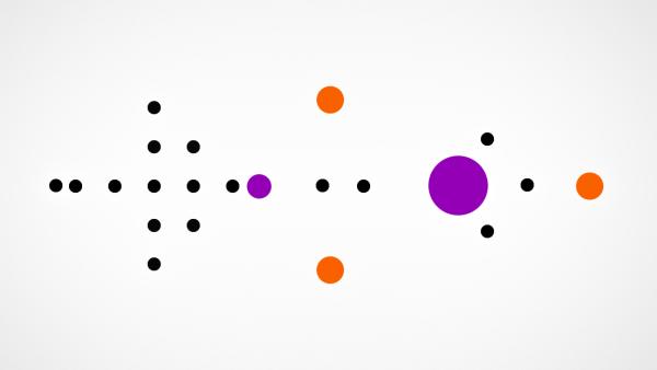 farbige und schwarze Kreise des Levels 2