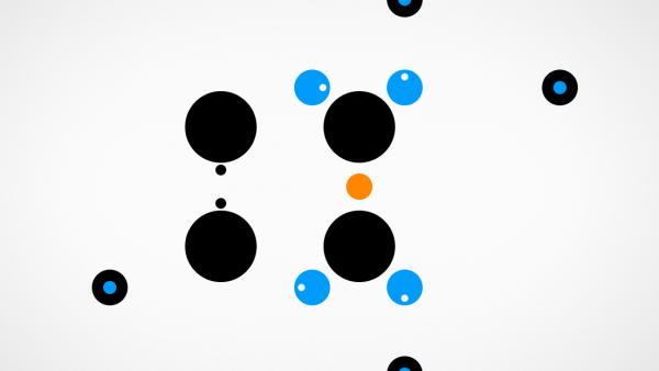 farbige und schwarze Kreise des Levels 4