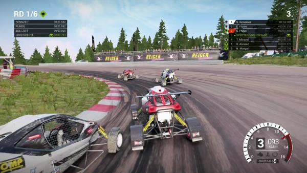 Screenshot: Ein Rundkurs Rennen