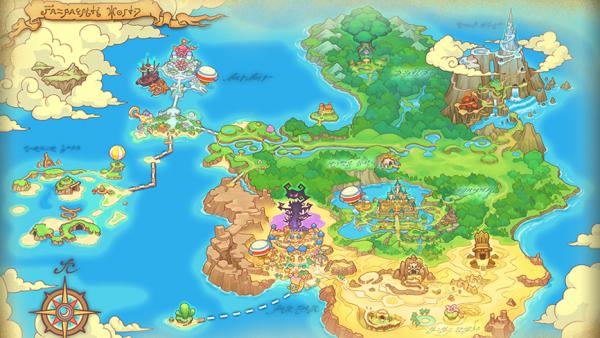 Weltkarte der Spielwelt