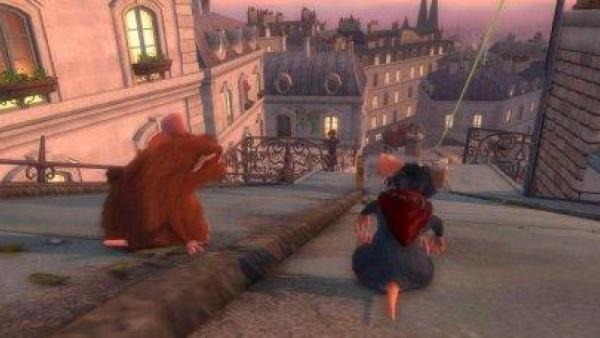Zwei Ratten rutschen eine steile Straße runter.