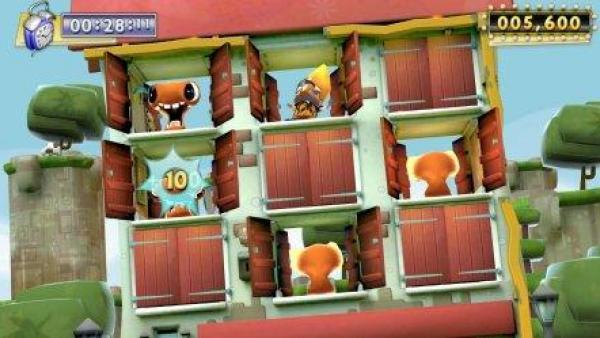 Hinter offenen und geschlossenen Fenstern verbergen sich Spielfiguren.