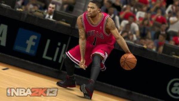 Ein Basketballspieler beim Dribbeln.