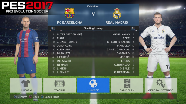 Screenshot: Die Vorstellung der Mannschaften