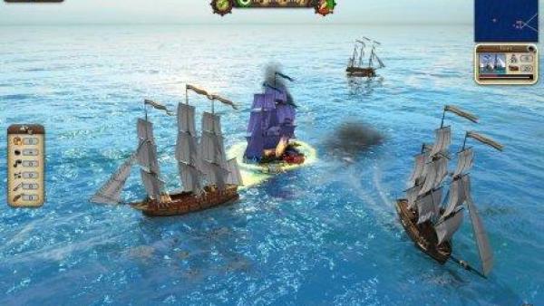 Mehrere Schiffe auf dem Meer.