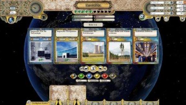 Verschiedene Szenarien auf Spielkarten dargestellt.