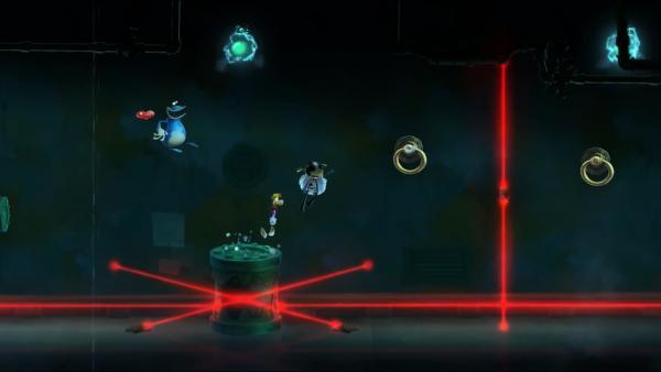 Mehrere Spielende zusammen in einer düsteren Szenerie