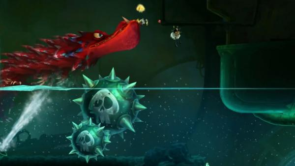 Die Spielenden werden von einem riesigen Monster durch die Welt gejagt
