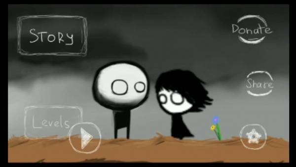 Screenshot: Eine männliche und eine weibliche Comicfigur stehen sich gegenüber.
