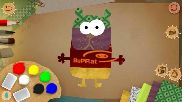 Screenshot: Im Editor wurde ein Hamster mit dem BuPP Logo individuell gestaltet.