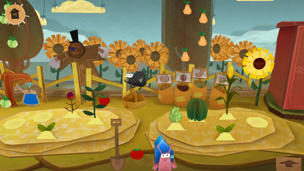 Screenshot: Im Garten wachsen unterschiedliche Pflanzen.