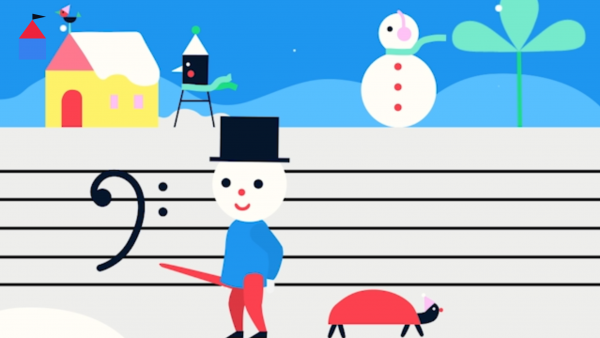 Screenshot: Teku zeigt mit einem Dirigentenstab auf einen Bassschlüssel.