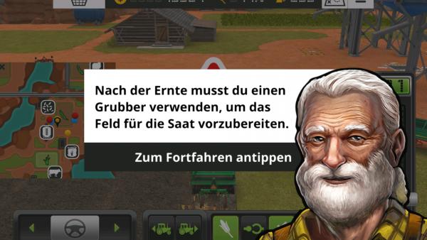 Screenshot: Bild eines weißbärtigen alten Mannes mit Hilfestellungs-Text