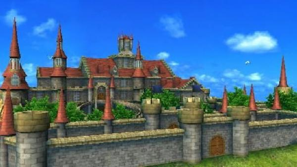 Eine aufwändig gestaltete Burg.