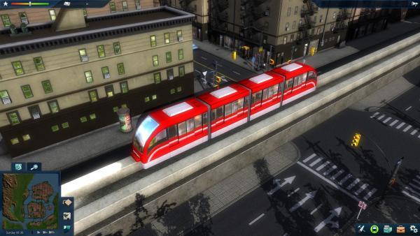 Monorailbahn auf einer Brücke