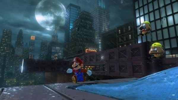 screenshot: Mario wird vom zwei Gumbas verfolgt.