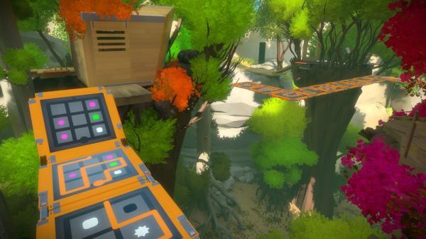 Screenshot: Landschaft mit Schalttafeln
