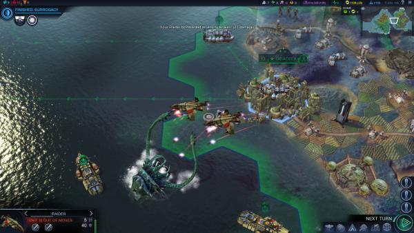 Eine Stadt an der Küste wird von einem Meeresungeheuer angegriffen.