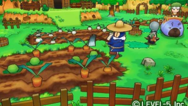 Ein Farmer arbeitet im Garten