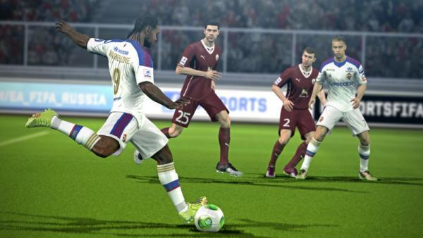 Screenshot: Fußballszene Nahaufnahme