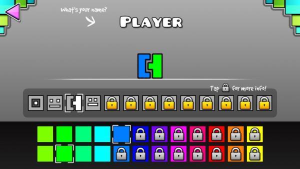 Screenshot, der einige Spielformen und Farben zeigt
