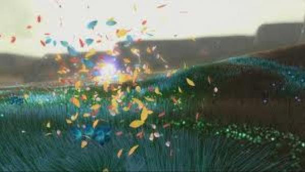 Viele durch die Luft fliegende Blütenblätter