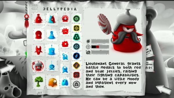 In der Jellypedia kann man sich Informationen über die Spielfiguren durchlesen.