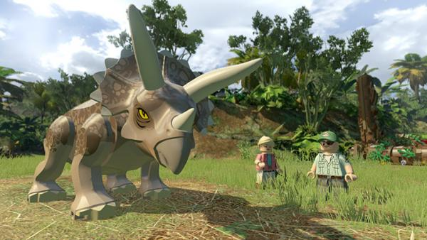 Screenshot: ein Triceratops aus LEGO
