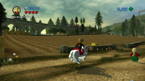 Screenshot: Chase reitet auf einem Pferd