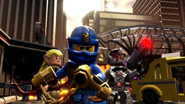 Screenshot: drei LEGO Actionfiguren