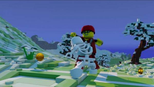 Screenshot: Kampf gegen ein Skelett
