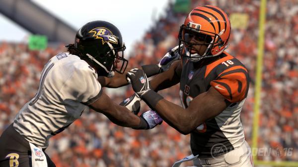 Screenshot: Ein Spielen blockt einen anderen