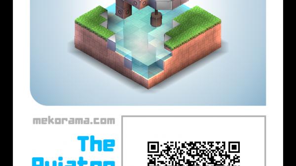 Screenshot: Ein Spiellevel wird auf einer digitalen Spielkarte angezeigt, auf der ein QR Code zu sehen ist.