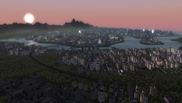 Stadtansicht bei Nacht