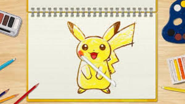 Screenshot: Eine Pikachu-Zeichenvorlage