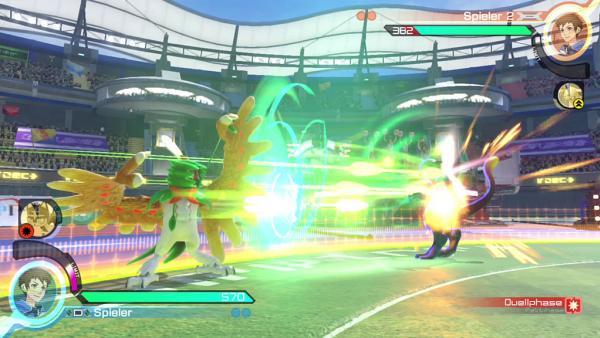 Screenshot: ein Pokemon Kampf