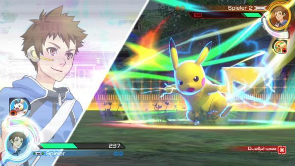 Screenshot: Pikachu vollführt eine Blitzattacke