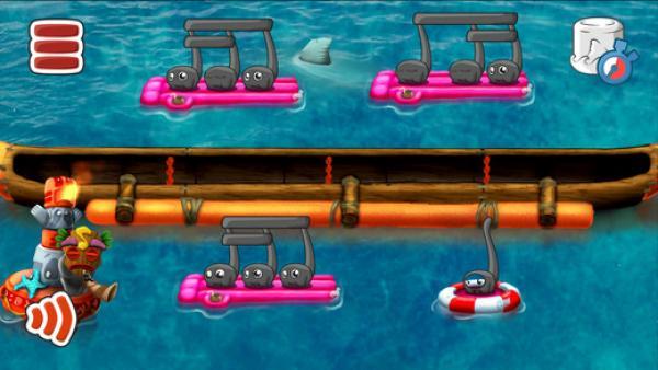 Screenshot: ein Indianerboot