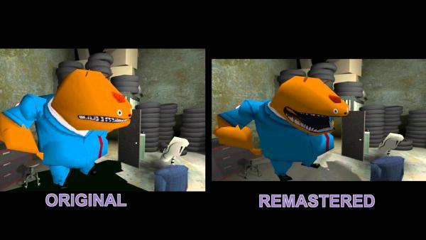 Vergleich zwischen Original und Remastered